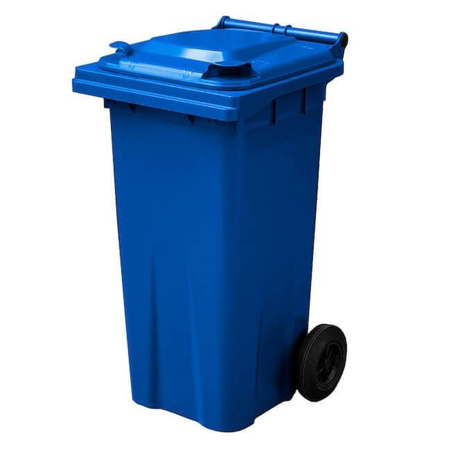 Blue 120 Litre Wheelie Bin - Main