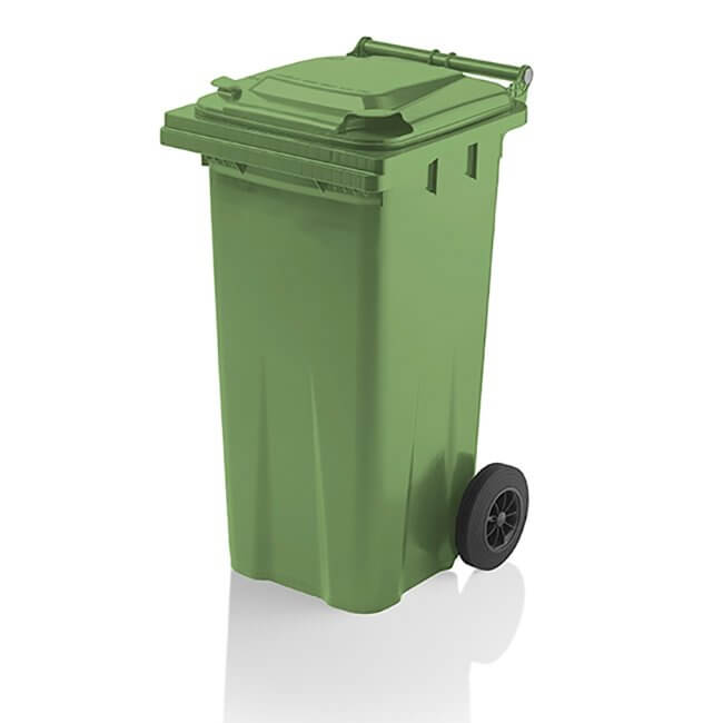 Green 120 Litre Wheelie Bin from Yellow Shield
