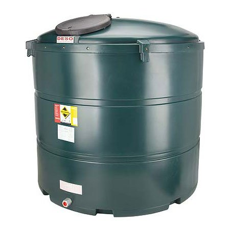 2,445 Litre Plastic Oil Storage Tanks (Vertical)
