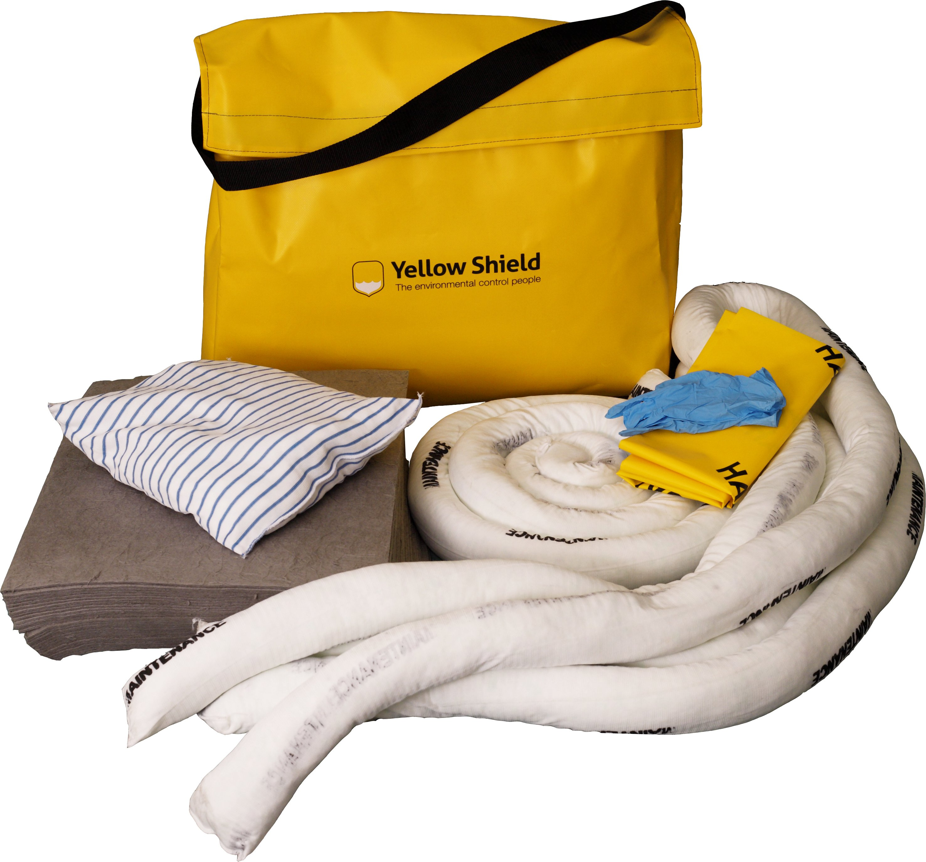 Shoulder bag spill kit