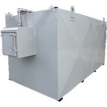 8000 Litre Steel Bunded Waste Oil Tank