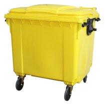 1100 Litre Wheelie Bin Yellow