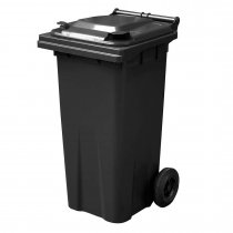 120 Litre Dark Grey wheelie Bin - Main