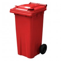 120 Litre Red Wheelie Bin - main ys