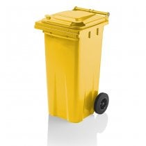120 Litre Yellow Wheelie Bin from Yellow Shield