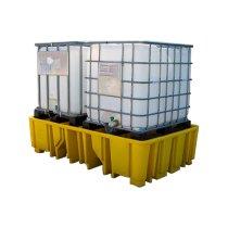 Economy Double IBC Polyethylene Spill Pallet
