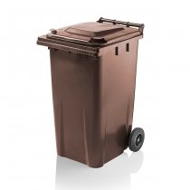 240 Litre Brown Wheelie Bin From Yellow Shield
