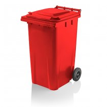 Red 240 Litre Wheelie Bin from Yellow Shield