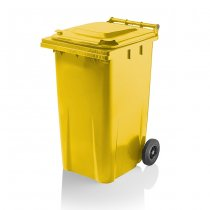 240 Litre Yellow Wheelie Bin from Yellow Shield