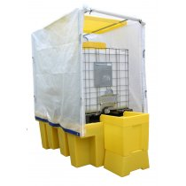Single IBC Poly Sump Pallet with Frame & Cover