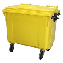 660 Litre Wheelie Bin - Yellow