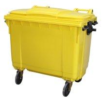 660 Litre Wheelie Bin - Yellow
