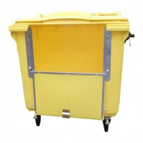 1100 Litre Yellow Wheelie Bin