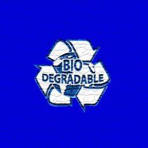 Bio-degradable bags (Blue)