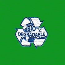 Bio-degradable bags (Green)