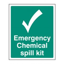 Emergency Chemical Spill Kit Sign