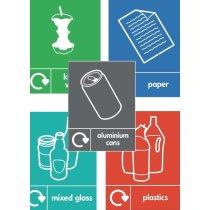 Wheelie bin recycle stickers