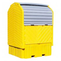 Single IBC Hardcover Outdoor Spill Pallet
