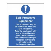 Spill Protective Equipment Sign