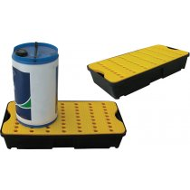 30L spill tray with yellow grid