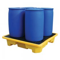 4 Drum Spill Pallet - Stackable