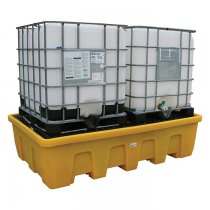 Double IBC Poly Sump Pallet - Stackable