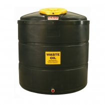 1,340 Litre Plastic Bunded Waste Oil Tank (Vertical)