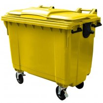 1100 Litre Wheelie Bin | Yellow