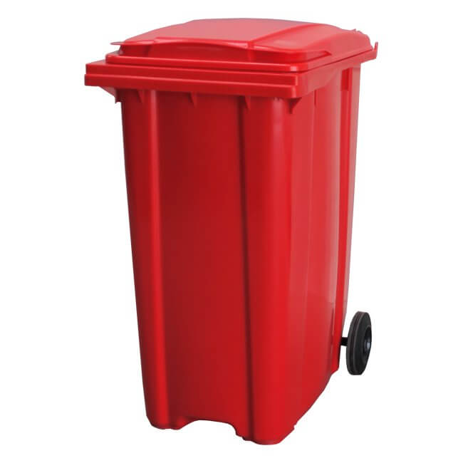 360 Litre Red Wheelie Bin
