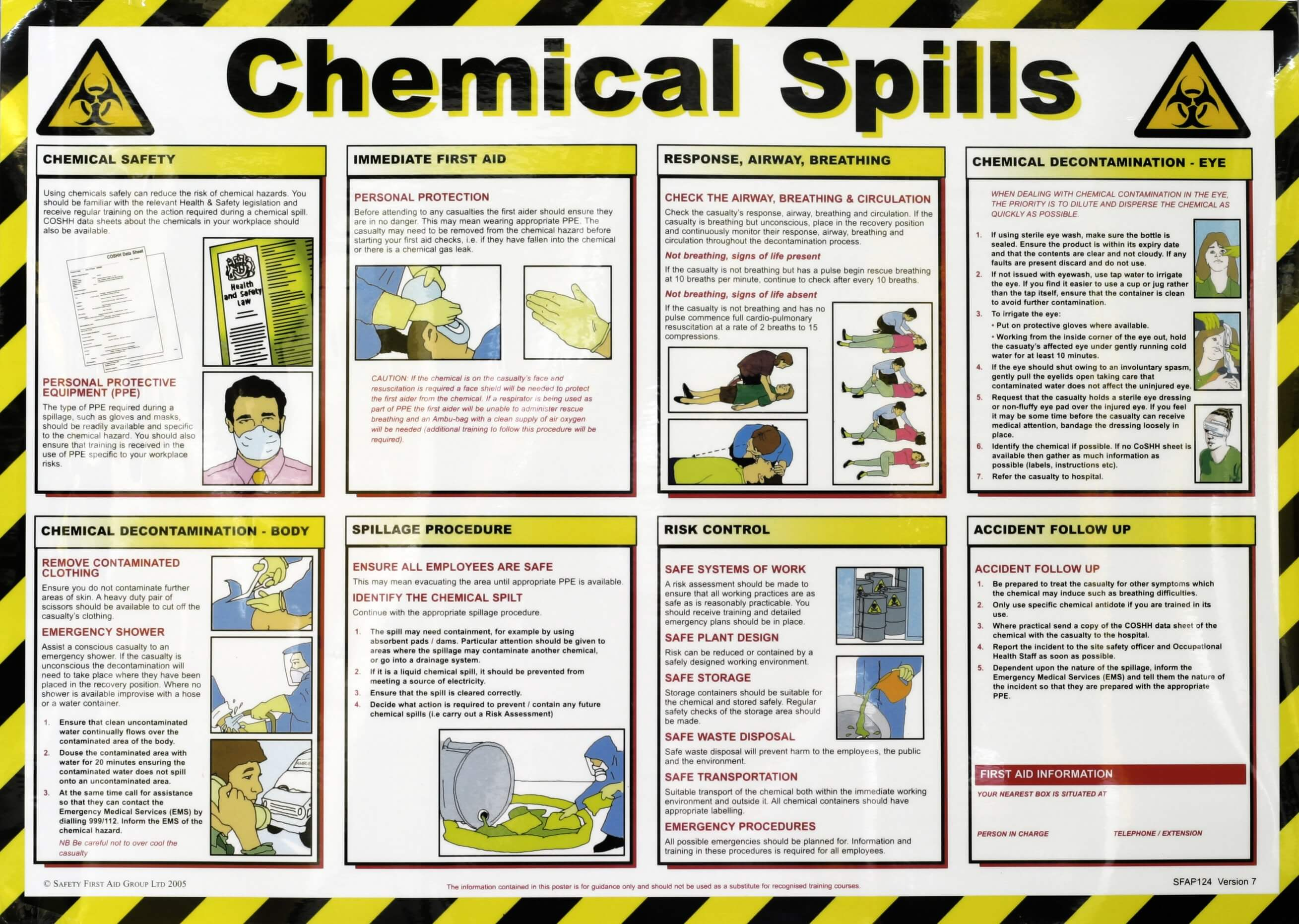 chemical spill poster yellowshield. Black Bedroom Furniture Sets. Home Design Ideas