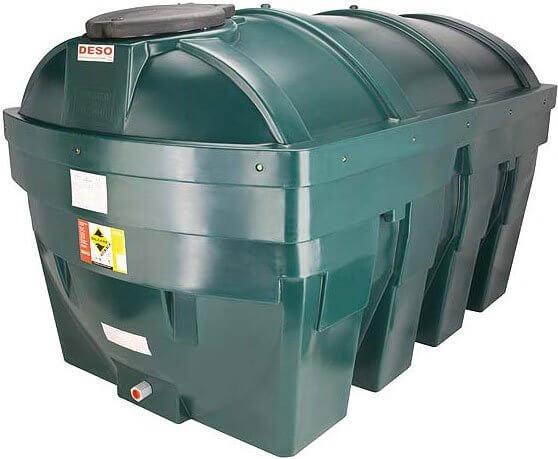 1,800 Litre Plastic Oil Storage Tanks (Horizontal)