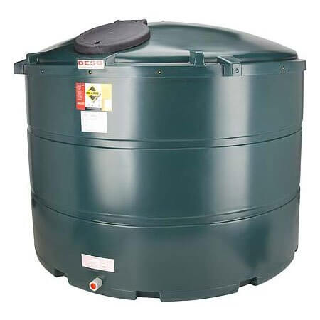 3,500 Litre Plastic Oil Storage Tank (Vertical)