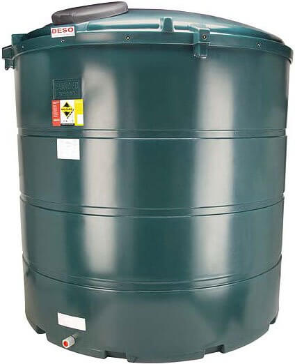 5,000 Litre Plastic Oil Storage Tank (Vertical)