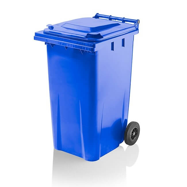 240 Litre Blue Wheelie Bin from Yellow Shield