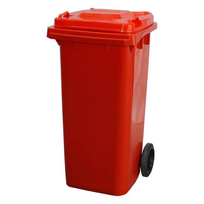120 Litre Red Wheelie Bin