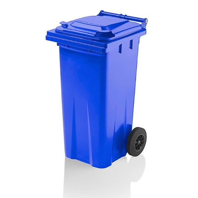 120 Litre Blue Wheelie Bin from Yellow Shield