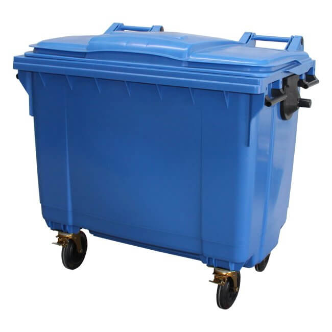 660 Litre Blue Wheelie Bin