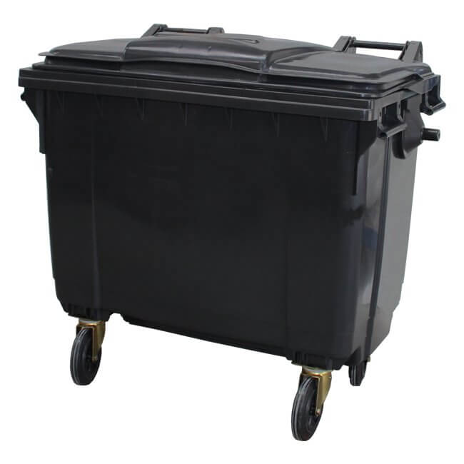 660 Litre Grey Wheelie Bin