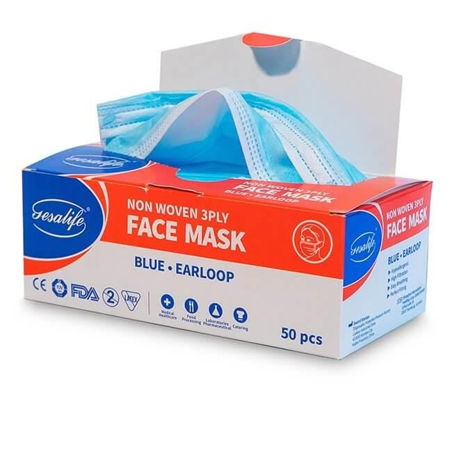 Disposable Face Mask Open Box