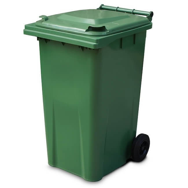 Yellow Shield GREEN 240 Litre Wheelie Bin - Main
