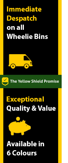 Side banner for coloured wheelie bins