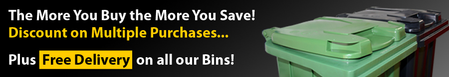 The more you buy the more you save! Wheelie Bins